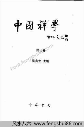 中华禅学-第3卷.吴言生