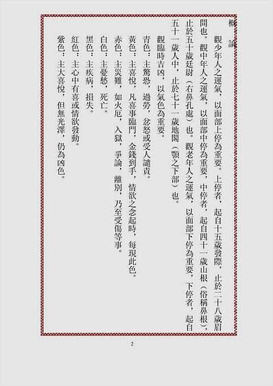 中国相法精华