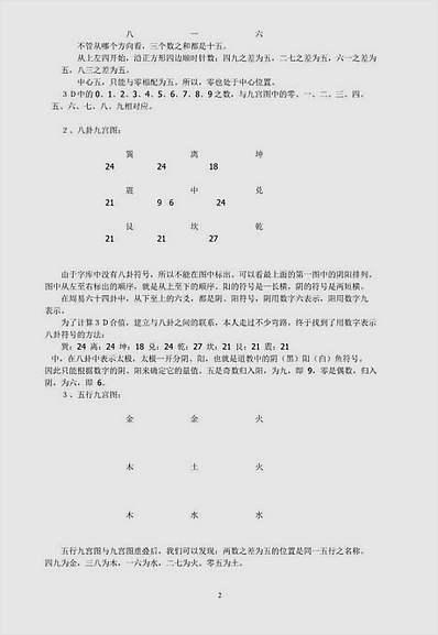 九宫法测算彩票讲义