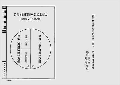 正三元三合阴阳二宅地学中庸卷4