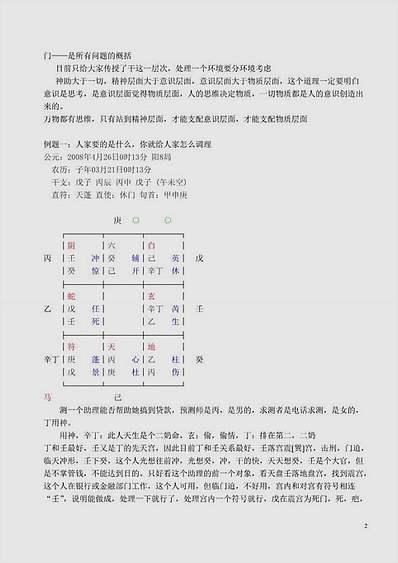 王凤麟08年6月北京奇门遁甲学习笔记
