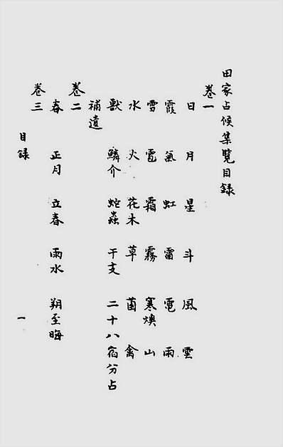 田家占候集览十卷(古本)